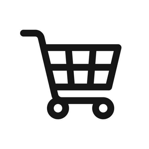 Shopping Cart Icon isolated on white background
